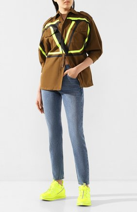 Женская хлопковая куртка VALENTINO хаки цвета, арт. TB0CJ1I52C0 | Фото 2
