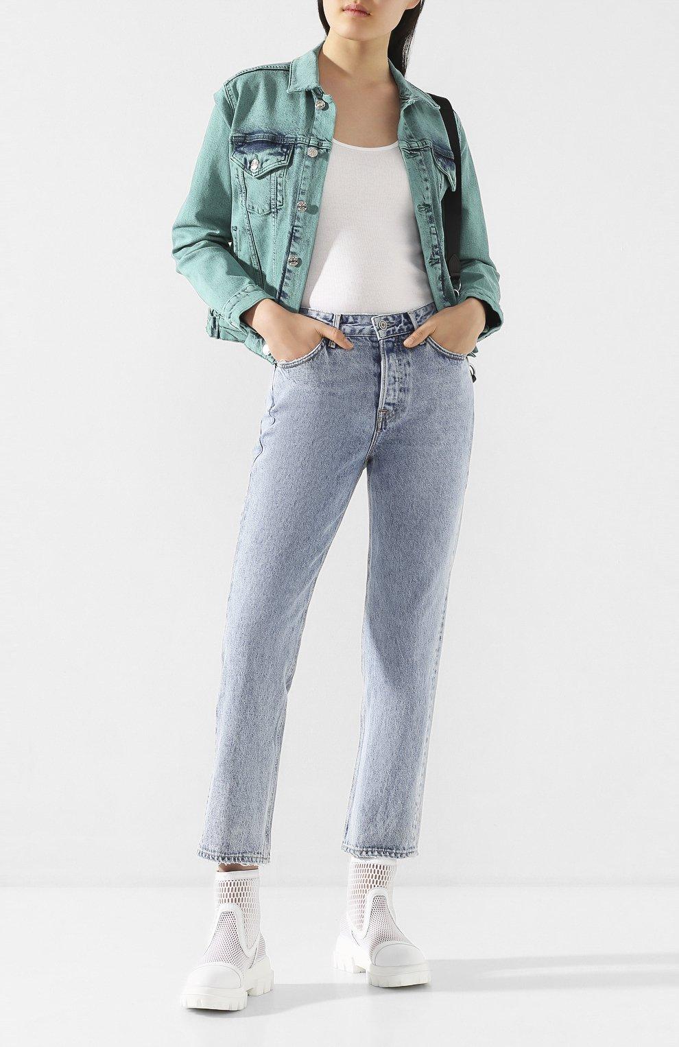 Женские джинсы GRLFRND голубого цвета, арт. GF41388501305 | Фото 2