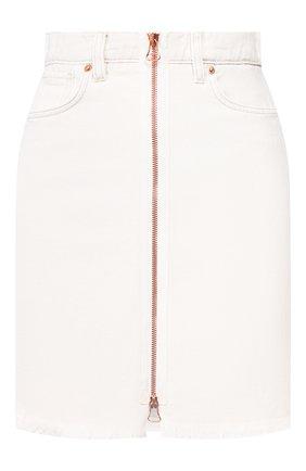 Женская юбка из смеси хлопка и льна TWO WOMEN IN THE WORLD белого цвета, арт. 0RTENSIA/Y175J | Фото 1
