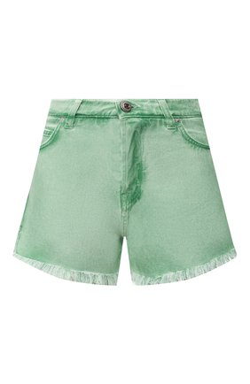 Женские джинсовые шорты TWO WOMEN IN THE WORLD зеленого цвета, арт. D0NY/YHR4A | Фото 1