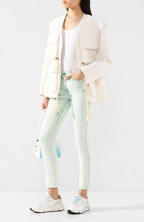 Женские джинсы STELLA MCCARTNEY светло-зеленого цвета, арт. 372773/SNH81 | Фото 2