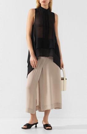 Женская шелковая юбка ISABEL BENENATO бежевого цвета, арт. DW81S20 | Фото 2