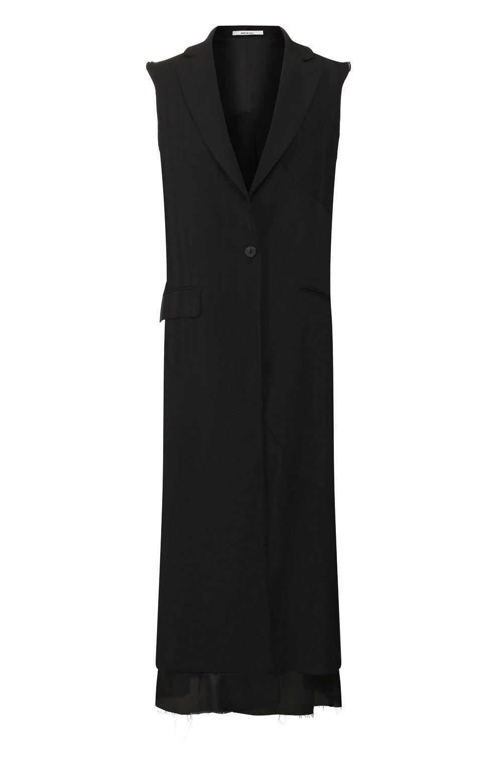 Женский жилет из вискозы ISABEL BENENATO черного цвета, арт. DW12S20 | Фото 1