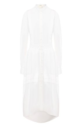 Женское хлопковое платье ISABEL BENENATO белого цвета, арт. DW33S20 | Фото 1