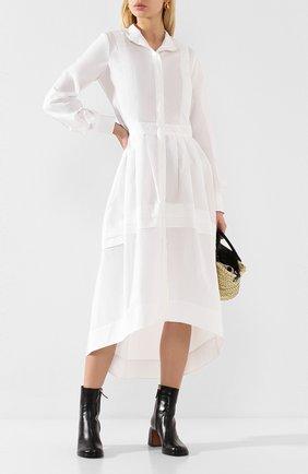 Женское хлопковое платье ISABEL BENENATO белого цвета, арт. DW33S20 | Фото 2