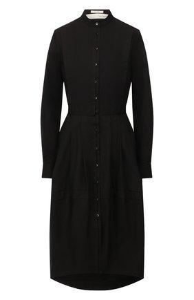 Женское хлопковое платье ISABEL BENENATO черного цвета, арт. DW33S20 | Фото 1