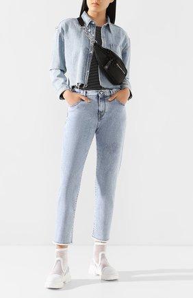 Женские джинсы JACOB COHEN голубого цвета, арт. KAREN RELAX 01915-W3/53 | Фото 2