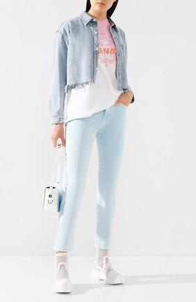 Женские джинсы JACOB COHEN голубого цвета, арт. KIMMY 01908-V/53 | Фото 2