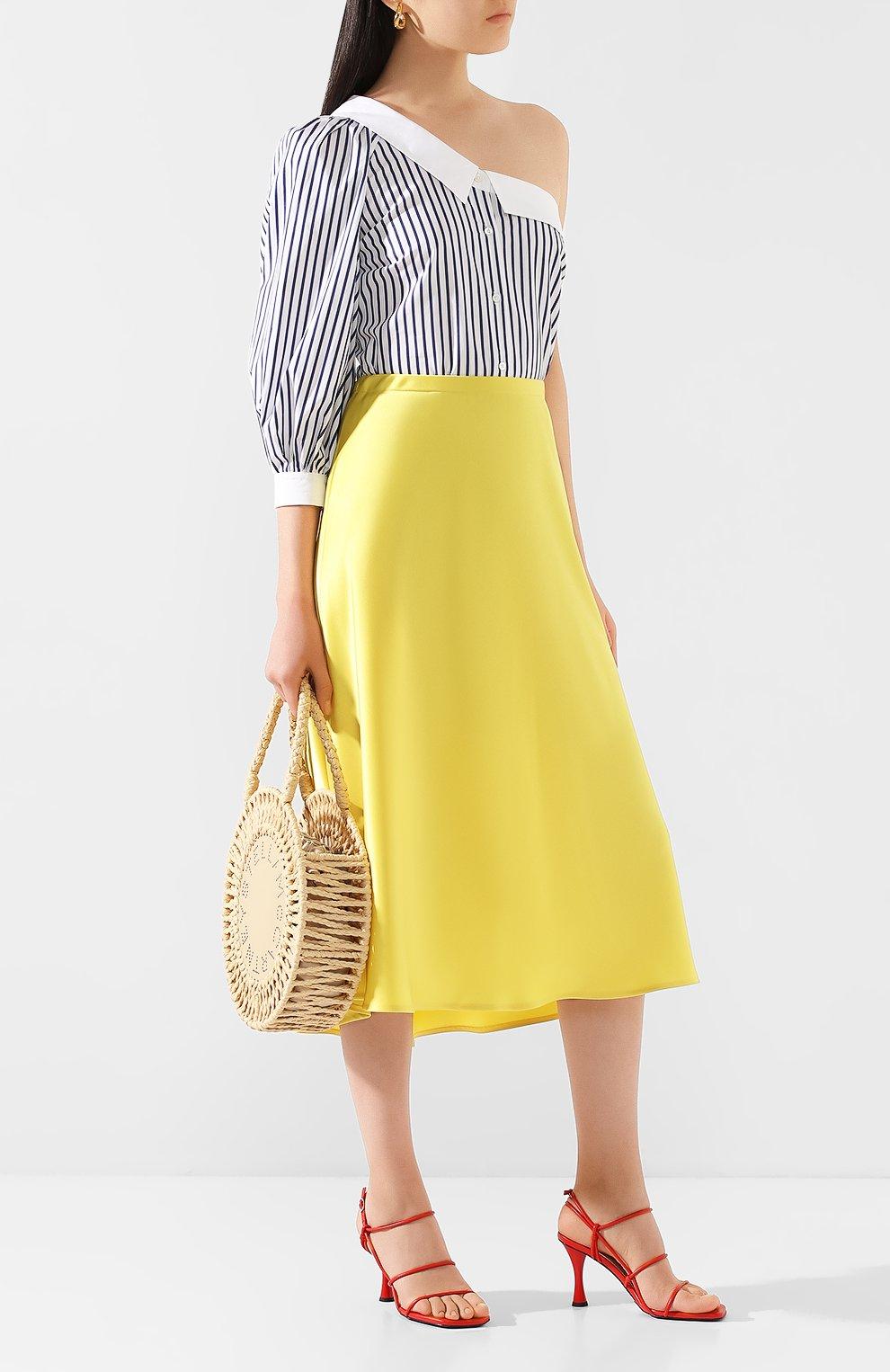 Женская юбка-миди ESCADA желтого цвета, арт. 5032905   Фото 2 (Материал внешний: Синтетический материал; Длина Ж (юбки, платья, шорты): Миди)