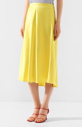 Женская юбка-миди ESCADA желтого цвета, арт. 5032905   Фото 3 (Материал внешний: Синтетический материал; Длина Ж (юбки, платья, шорты): Миди)