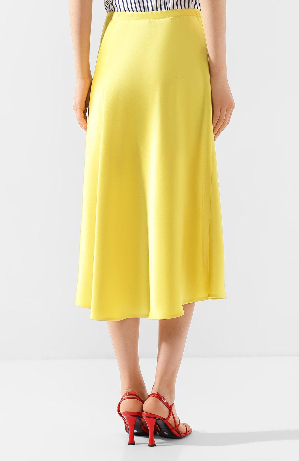 Женская юбка-миди ESCADA желтого цвета, арт. 5032905   Фото 4 (Материал внешний: Синтетический материал; Длина Ж (юбки, платья, шорты): Миди)