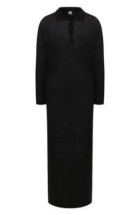 Женское платье-макси TOTÊME черного цвета, арт. BARZI0 DRESS 202-620-777 | Фото 1