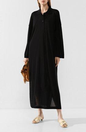 Женское платье-макси TOTÊME черного цвета, арт. BARZI0 DRESS 202-620-777 | Фото 2