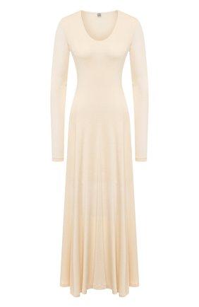 Женское платье из вискозы TOTÊME кремвого цвета, арт. TAVIRA 202-612-774 | Фото 1
