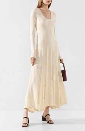 Женское платье из вискозы TOTÊME кремвого цвета, арт. TAVIRA 202-612-774 | Фото 2