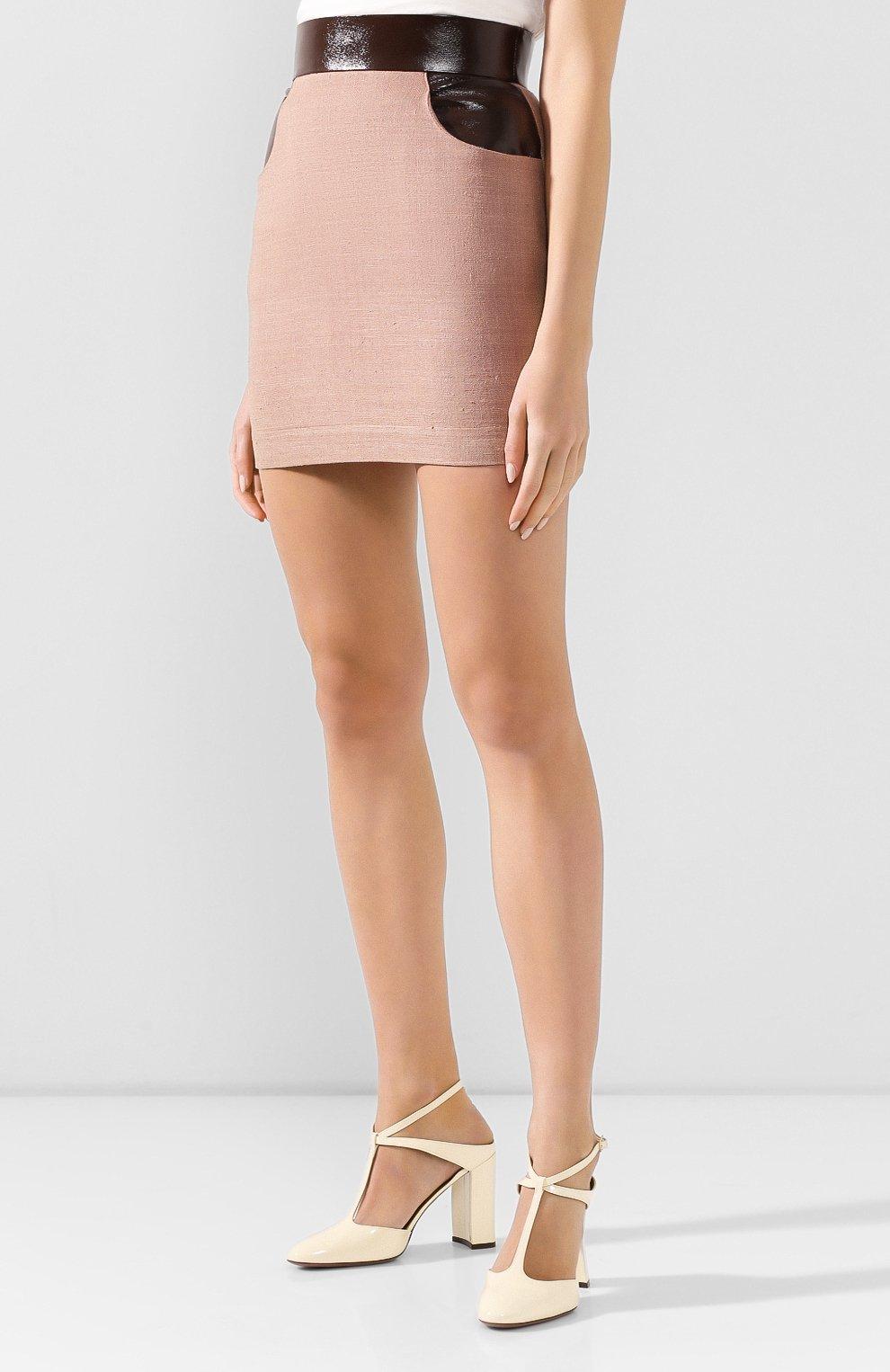 Женская юбка ULYANA SERGEENKO темно-бежевого цвета, арт. GNC005SS19P (0512т19) | Фото 3