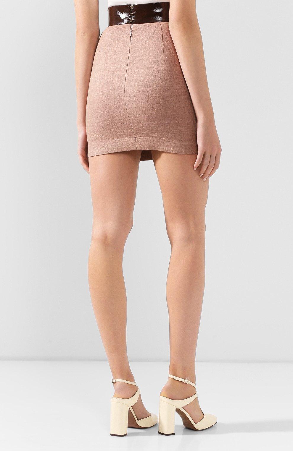 Женская юбка ULYANA SERGEENKO темно-бежевого цвета, арт. GNC005SS19P (0512т19) | Фото 4