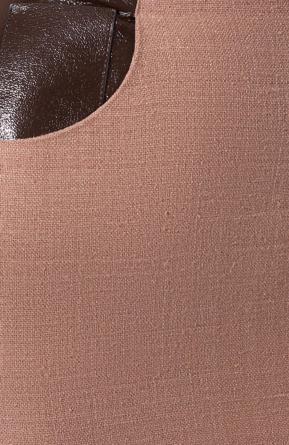 Женская юбка ULYANA SERGEENKO темно-бежевого цвета, арт. GNC005SS19P (0512т19) | Фото 5