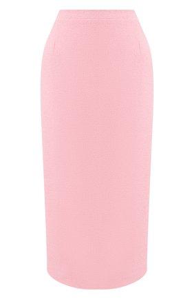 Женская шерстяная юбка ALESSANDRA RICH розового цвета, арт. FAB1817-F2521 | Фото 1
