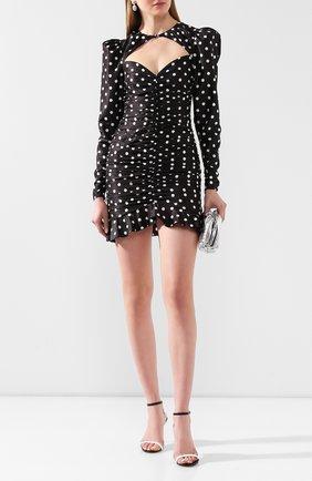 Женское шелковое платье ALESSANDRA RICH черно-белого цвета, арт. FAB2001-F2784 | Фото 2