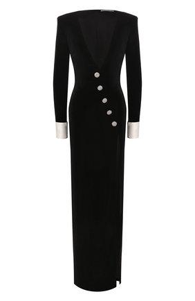 Женское платье-макси ALESSANDRA RICH черного цвета, арт. FAB2084-F2603 | Фото 1