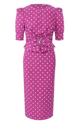 Женское шелковое платье ALESSANDRA RICH сиреневого цвета, арт. FAB2107-F2818 | Фото 1