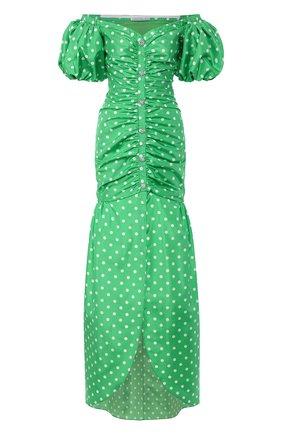 Женское платье-макси ALESSANDRA RICH зеленого цвета, арт. FAB2124-F2784 | Фото 1