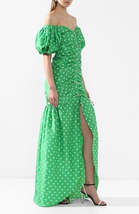 Женское платье-макси ALESSANDRA RICH зеленого цвета, арт. FAB2124-F2784 | Фото 2
