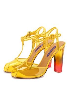 Женские босоножки katy RALPH LAUREN желтого цвета, арт. 800791835   Фото 1