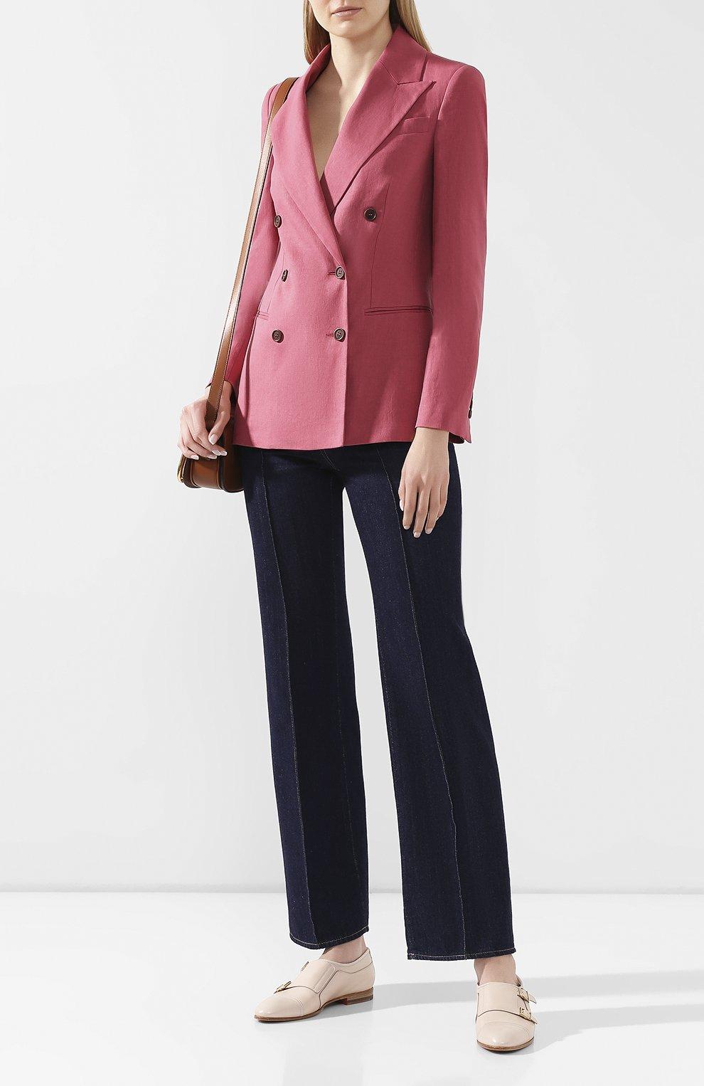 Женские кожаные монки SANTONI кремвого цвета, арт. WUSM58694BI3TUNSP10 | Фото 2