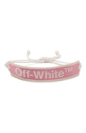 Женская текстильный браслет OFF-WHITE розового цвета, арт. 0W0A008R20D240852701 | Фото 1