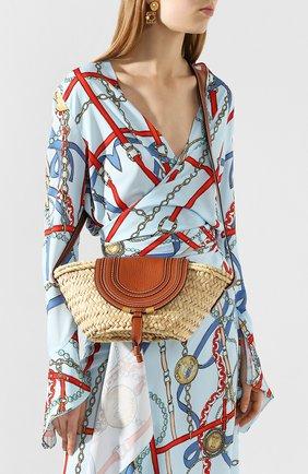 Женская сумка marcie CHLOÉ светло-коричневого цвета, арт. CHC20US829C97   Фото 2