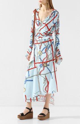 Женские кожаные босоножки BRUNELLO CUCINELLI черного цвета, арт. MZCCG1717 | Фото 2