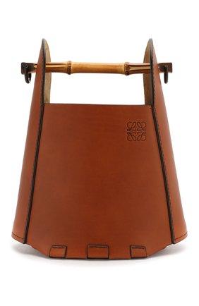 Женская сумка bucket bamboo LOEWE коричневого цвета, арт. 340.95.W37   Фото 1