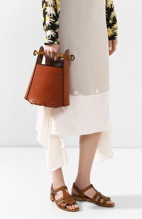 Женская сумка bucket bamboo LOEWE коричневого цвета, арт. 340.95.W37   Фото 2