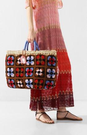 Женский сумка-шопер KILOMETRE PARIS разноцветного цвета, арт. 14A-UNDERC0VER BASKET - P0NZA. PANZIANE ISLANDS.IT | Фото 2