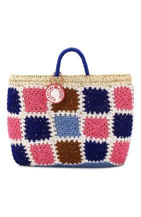 Женский сумка-шопер KILOMETRE PARIS разноцветного цвета, арт. 14A-UNDERC0VER BASKET - LEVANZ0.LEGADI ISLANDS.ITA | Фото 1