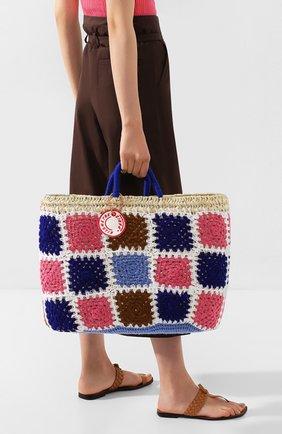 Женский сумка-шопер KILOMETRE PARIS разноцветного цвета, арт. 14A-UNDERC0VER BASKET - LEVANZ0.LEGADI ISLANDS.ITA | Фото 2