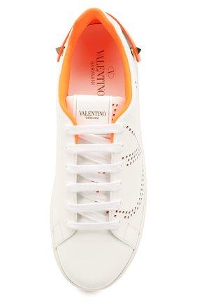 Женские кожаные кеды valentino garavani backnet VALENTINO оранжевого цвета, арт. TW0S0M20/MSS   Фото 5
