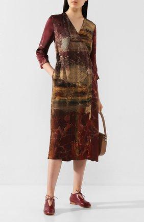 Женские кожаные лоферы MARTINIANO бордового цвета, арт. 004/B00TIE/KID LEATHER   Фото 2
