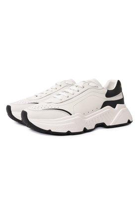 Мужские кожаные кроссовки daymaster DOLCE & GABBANA белого цвета, арт. CS1791/AX589 | Фото 1
