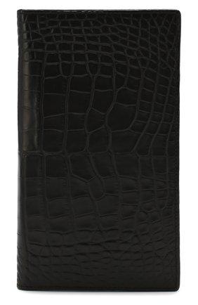 Мужской портмоне из кожи аллигатора ZILLI черного цвета, арт. MJL-0WL01-10100/0001/AMIS | Фото 1