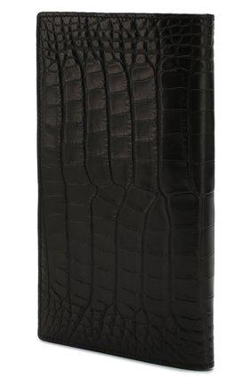 Мужской портмоне из кожи аллигатора ZILLI черного цвета, арт. MJL-0WL01-10100/0001/AMIS | Фото 2