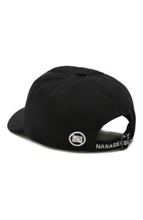 Мужской хлопковая бейсболка NASASEASONS черного цвета, арт. C012B/N0 PICTURES | Фото 2