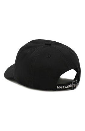 Мужской хлопковая бейсболка NASASEASONS черного цвета, арт. C037B/THIS IS N0T A M0VIE | Фото 2
