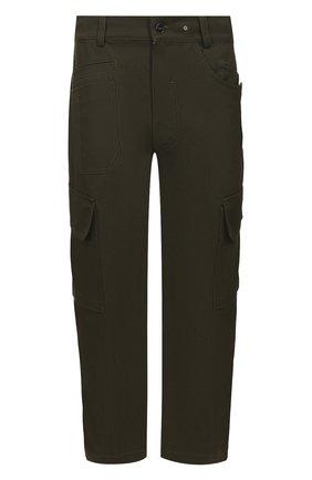Мужской хлопковые брюки-карго JACQUEMUS темно-зеленого цвета, арт. 205PA09/01580 | Фото 1