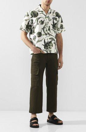 Мужской хлопковые брюки-карго JACQUEMUS темно-зеленого цвета, арт. 205PA09/01580 | Фото 2