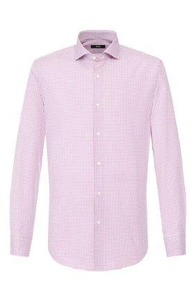 Мужская хлопковая сорочка BOSS розового цвета, арт. 50427742 | Фото 1