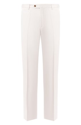Мужские брюки из смеси хлопка и кашемира CORNELIANI белого цвета, арт. 854203-0114105/02 | Фото 1