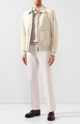Мужские брюки из смеси хлопка и кашемира CORNELIANI белого цвета, арт. 854203-0114105/02 | Фото 2